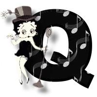 Betty boop schwarz alphabete