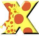 Giraffe alphabete