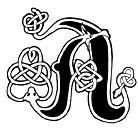 Schwarz weiss 2 alphabete