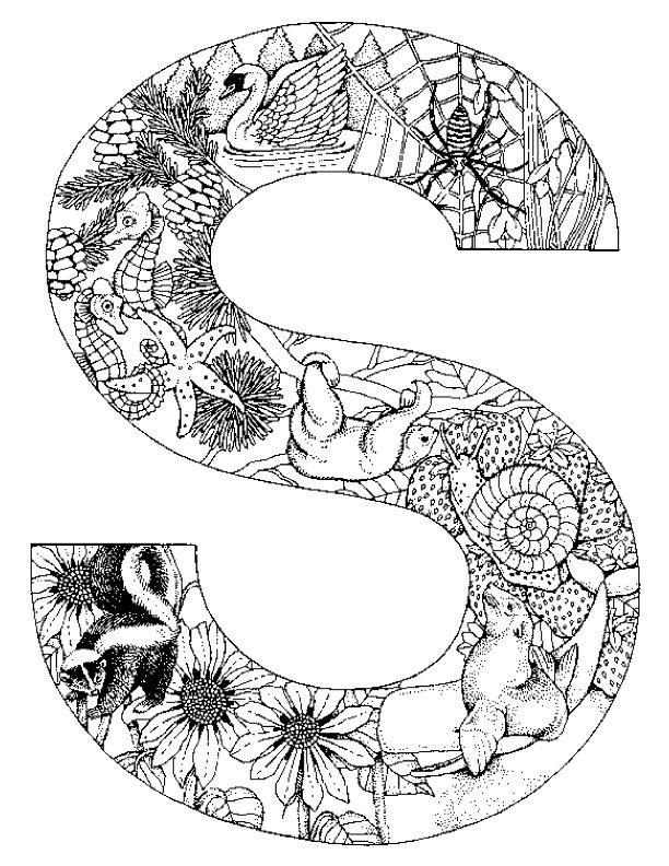 Alphabet tieren ausmalbilder