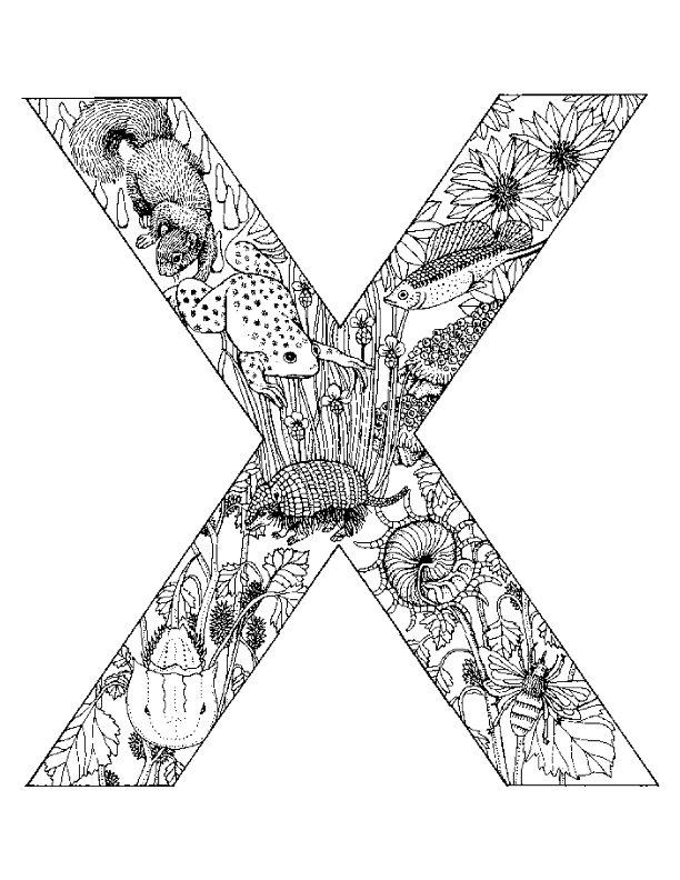 Alphabet tieren Ausmalbilder | Animaatjes.de