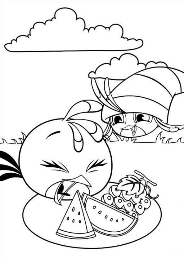 Angry birds stella ausmalbilder