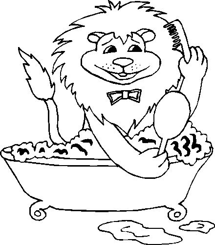 Badewanne ausmalbilder