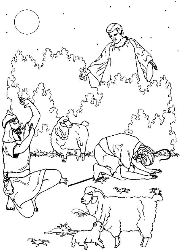 Bibel weihnachtsgeschichten ausmalbilder