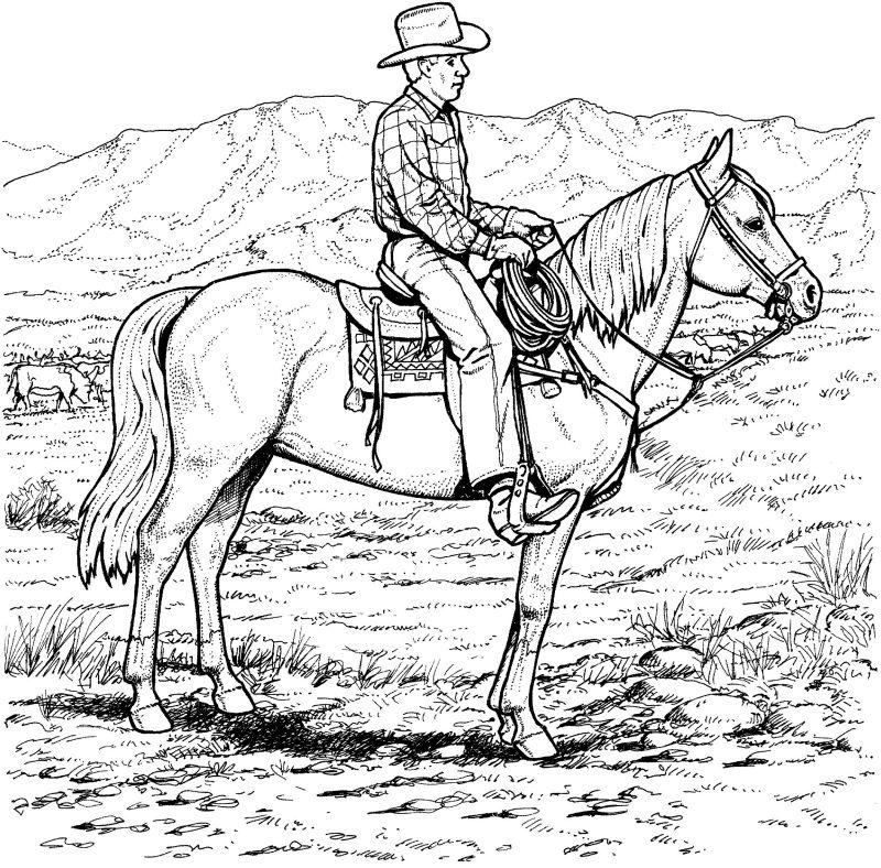 Cowboy ausmalbilder