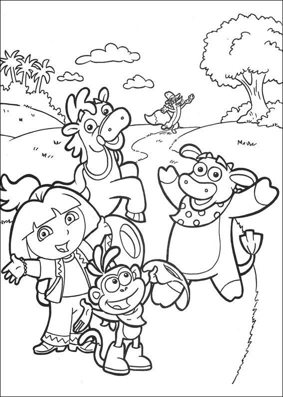 Dora the explorer 2 ausmalbilder