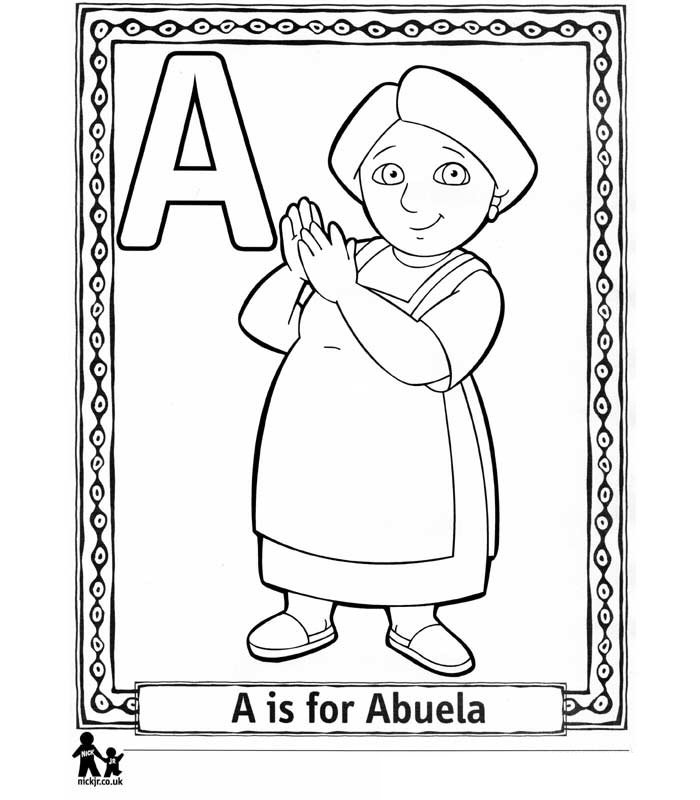 Dora the explorer alphabet ausmalbilder