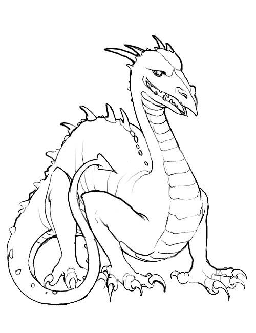 Drachen ausmalbilder
