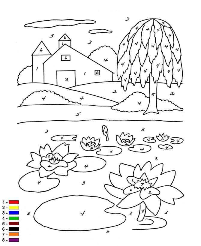 Farben auf der zahl farm