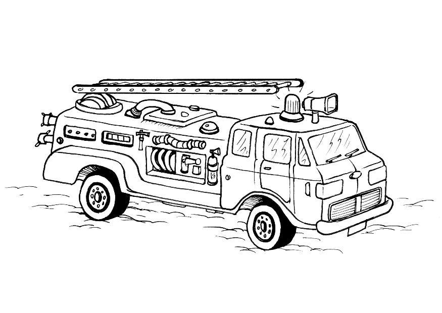 Feuerwehr ausmalbilder