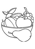 Frucht ausmalbilder
