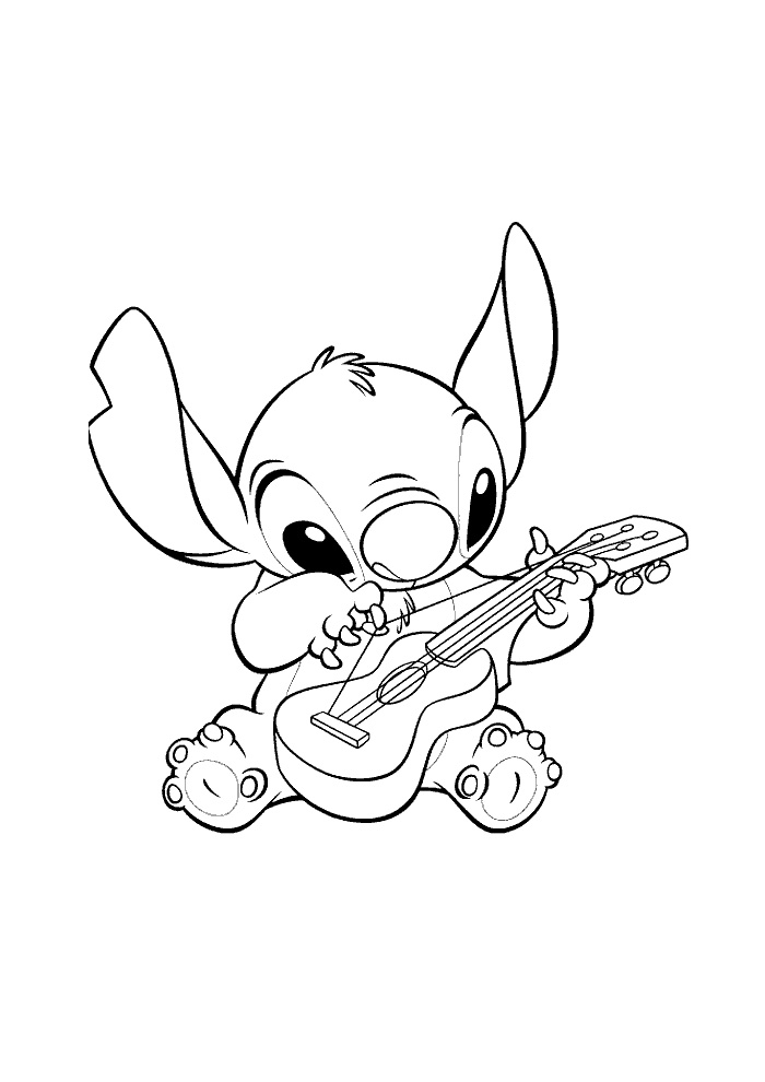 Gitarre ausmalbilder