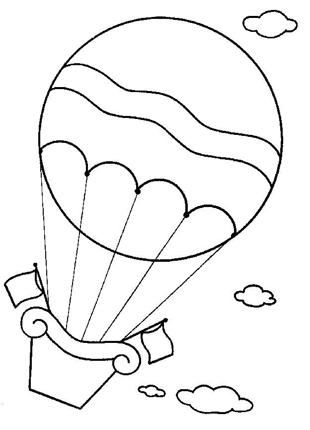 Heissluftballon ausmalbilder