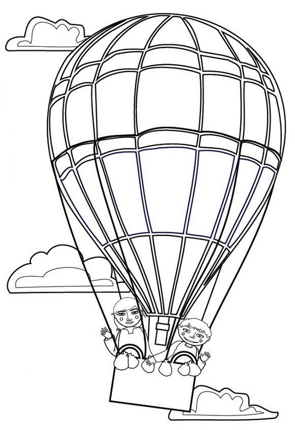 heissluftballon ausmalbilder  animaatjesde