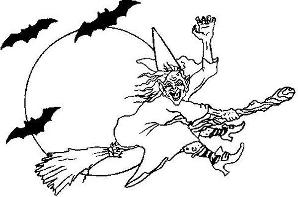 Hexen ausmalbilder