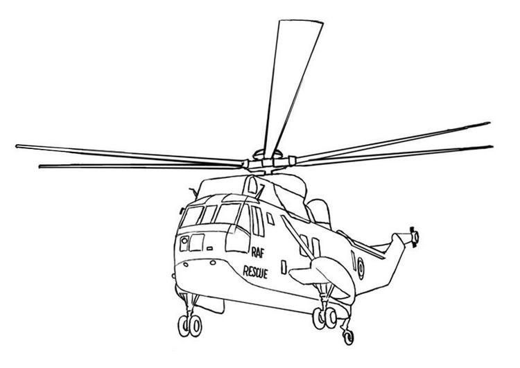Hubschrauber ausmalbilder