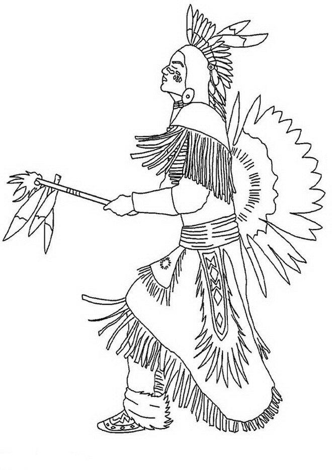 Indianer ausmalbilder