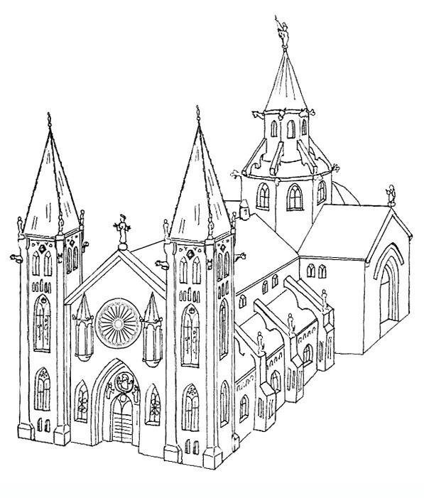 Kirchen ausmalbilder