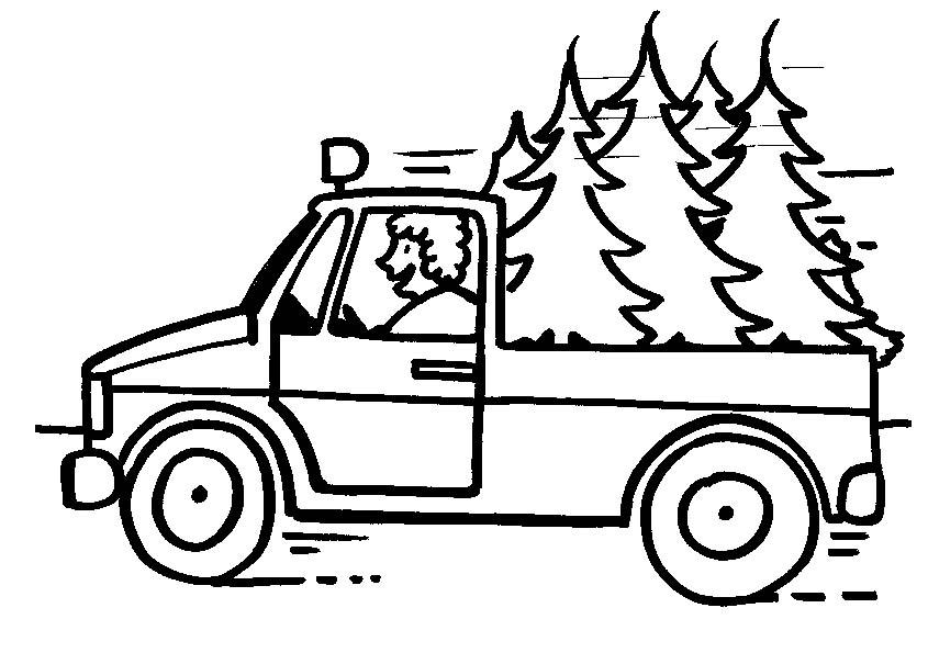Lastwagen ausmalbilder