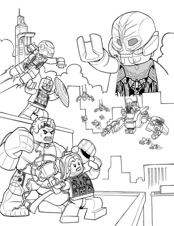 Avengers Ausmalbilder Zum Drucken: Lego Avengers Ausmalbilder