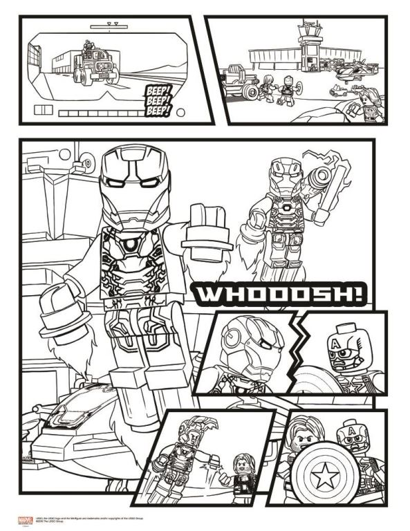 Beste Lego Marvel Superhelden Druckbare Malvorlagen Galerie ...