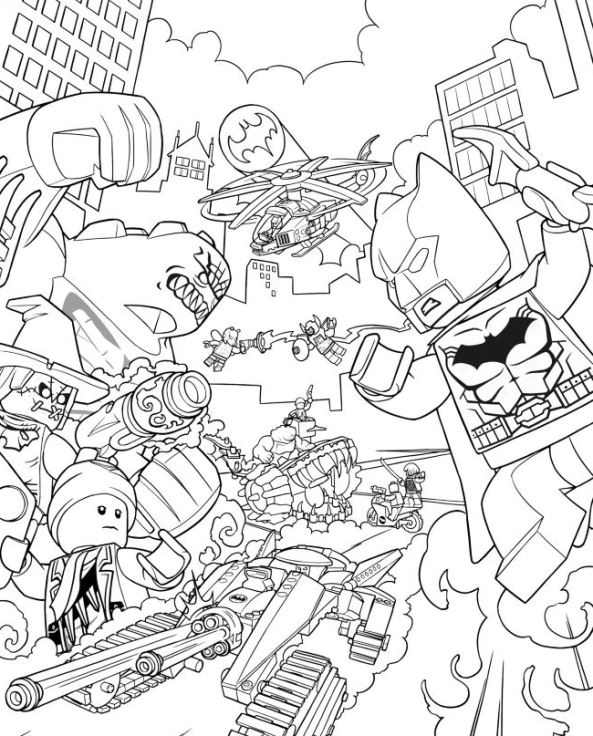 Lego batman ausmalbilder