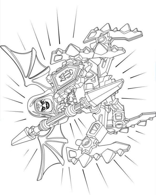 Ausmalbilder Ninjago Gesicht: Lego Nexo Knights Ausmalbilder 1qptw