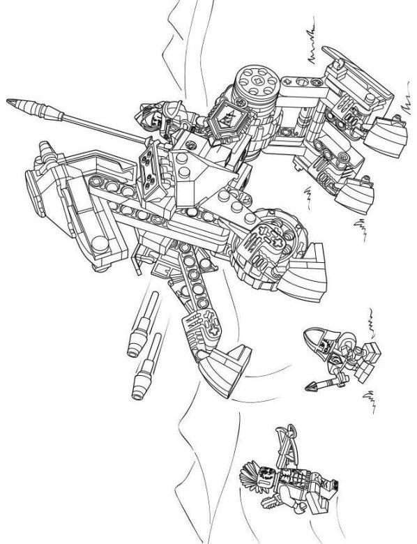 Malvorlage Lego Nexo Knights Ausmalbilder Baald