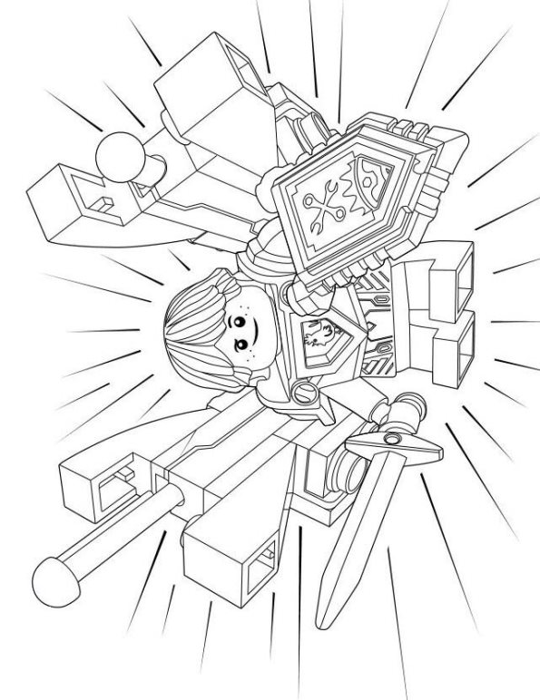 Lego nexo knights ausmalbilder