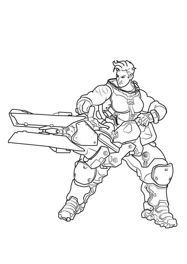 Simple Junkrat Coloring Pages Overwatch
