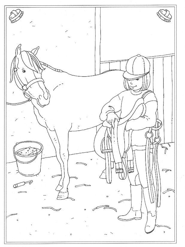 Kleurplaten Paarden Springen Malvorlage Reitschule Ausmalbilder Smnx2