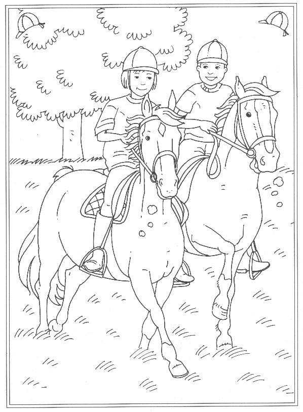ausmalbilder pferde reiterhof  pin auf malvorlagen  der