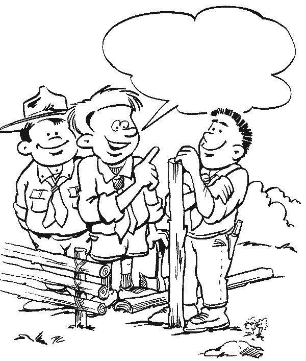Scouting ausmalbilder