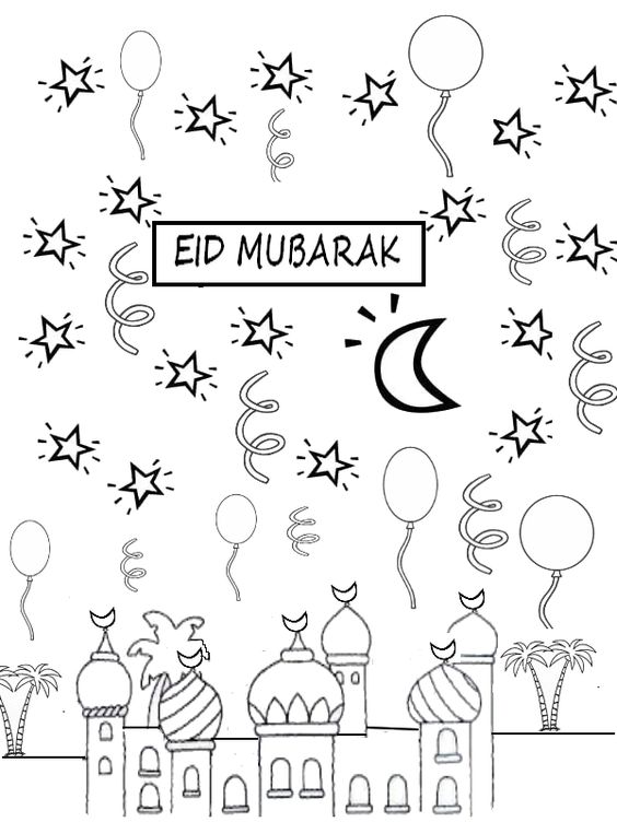 Zuckerparty eid mubarak ausmalbilder