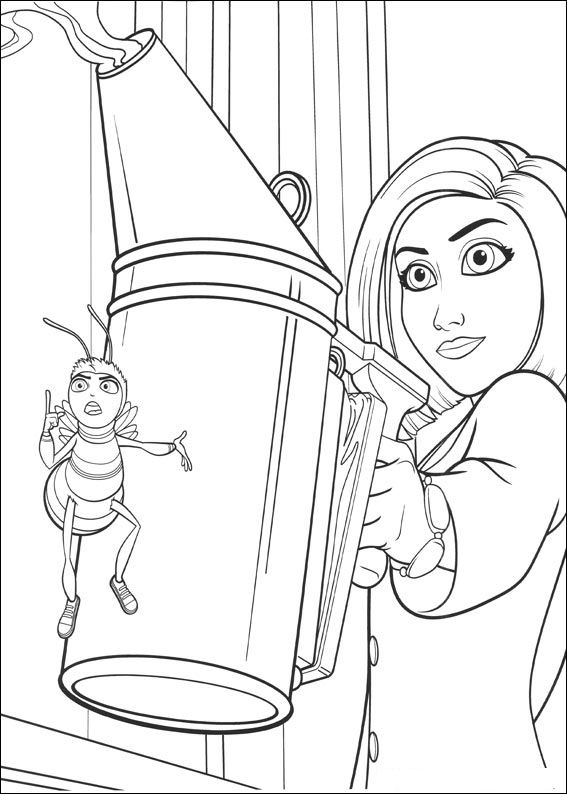 Bee movie das honingkomplott ausmalbilder