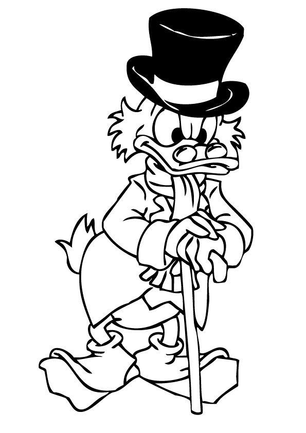 Dagobert duck ausmalbilder