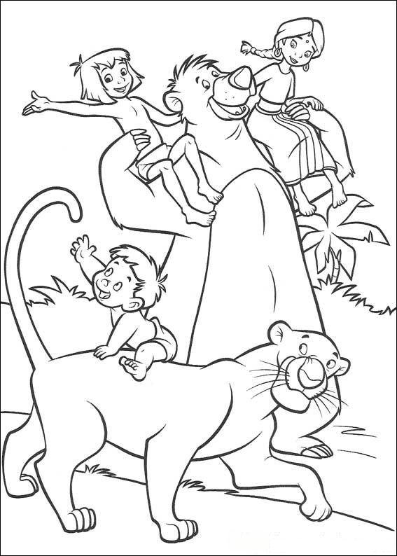 Das dschungelbuch 2 ausmalbilder