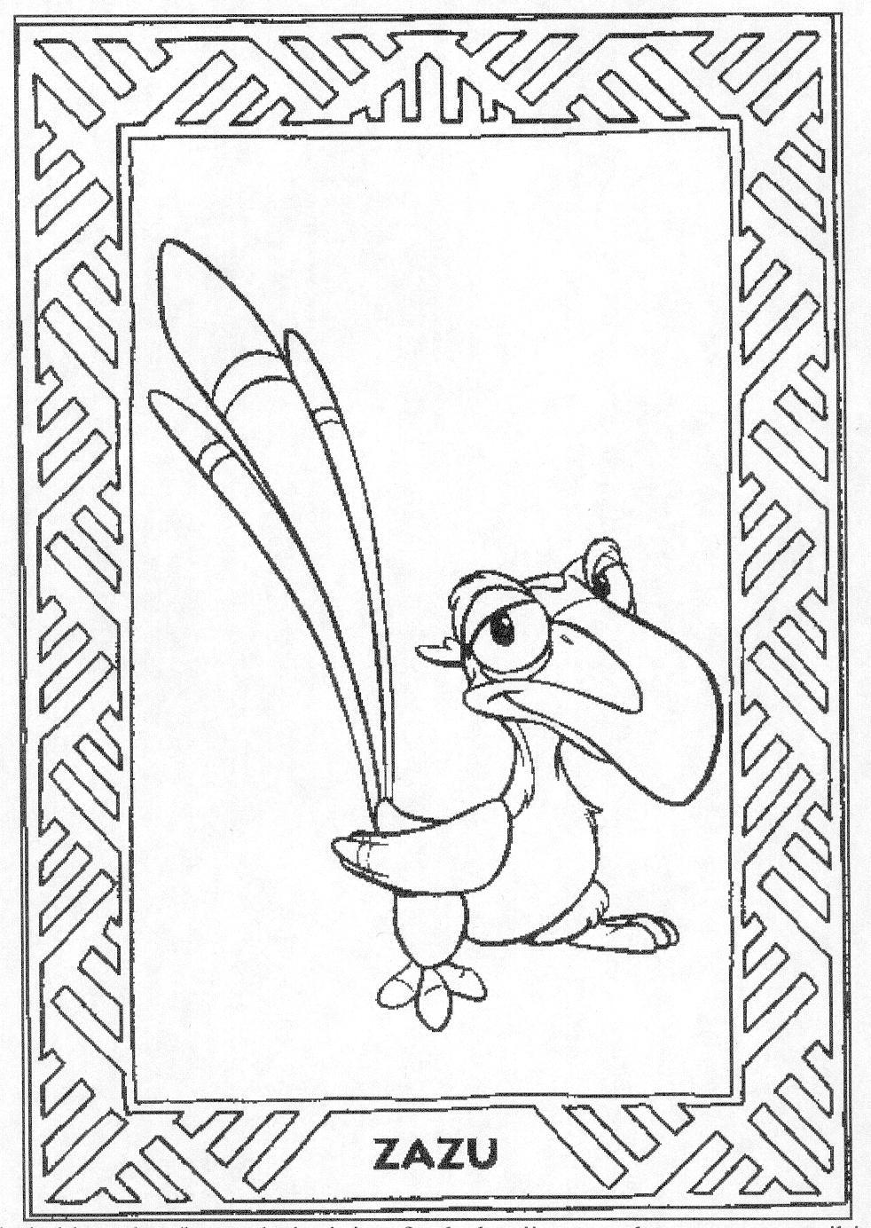 Der konig der lowen ausmalbilder