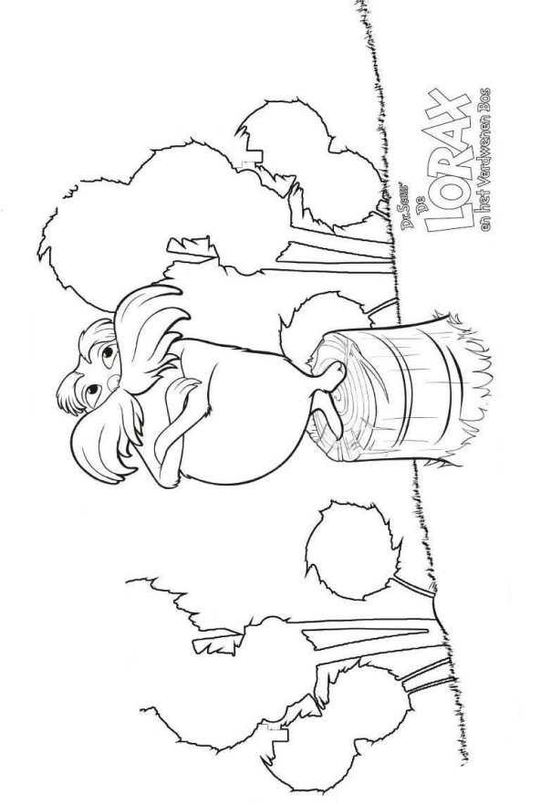 Der lorax ausmalbilder