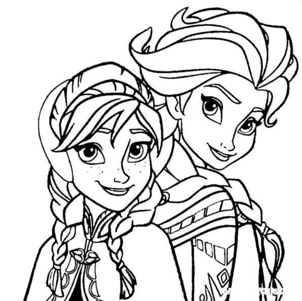 Die Eiskonigin Anna Und Elsa Ausmalbilder Animaatjesde
