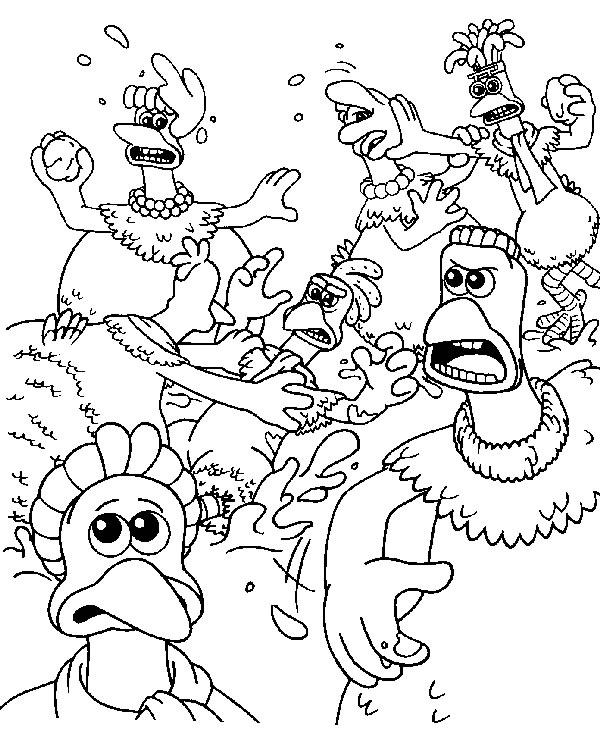 Hennen rennen ausmalbilder