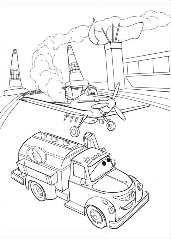 Planes 2 ausmalbilder