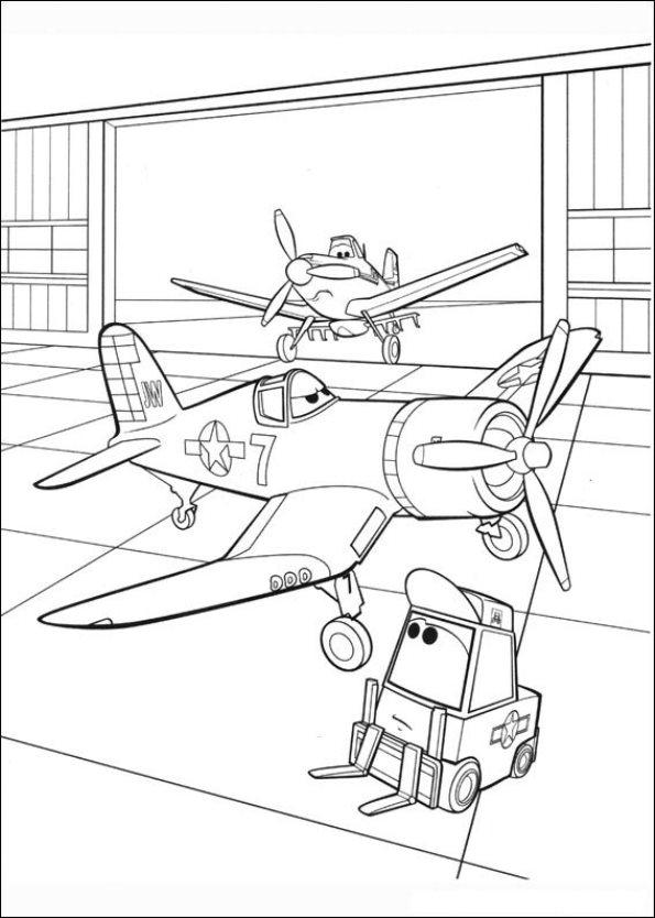 Planes ausmalbilder