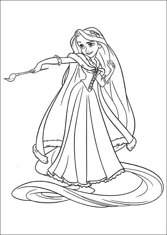 Rapunzel ausmalbilder