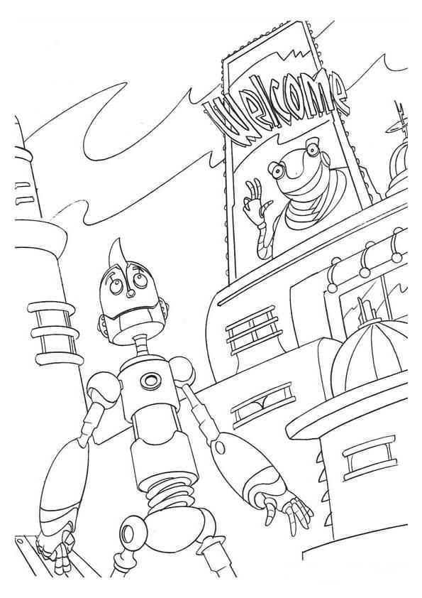 Robots ausmalbilder