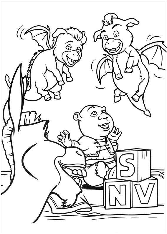 Shrek 4 ausmalbilder