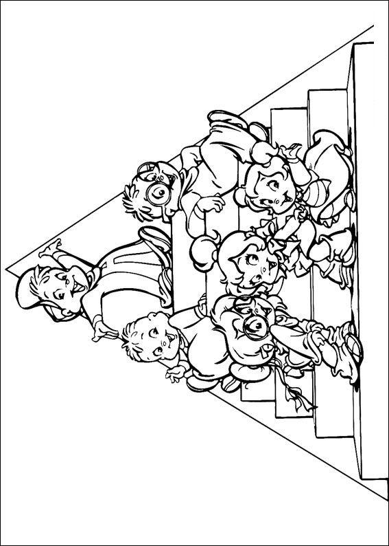 Alvin und die chipmunks ausmalbilder