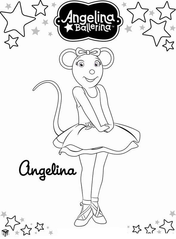 Angelina ballerina ausmalbilder