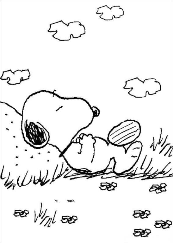 Die peanuts ausmalbilder