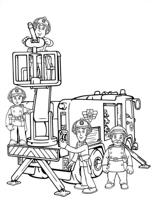 Malvorlage Feuerwehrmann Sam Ausmalbilder Dex4k